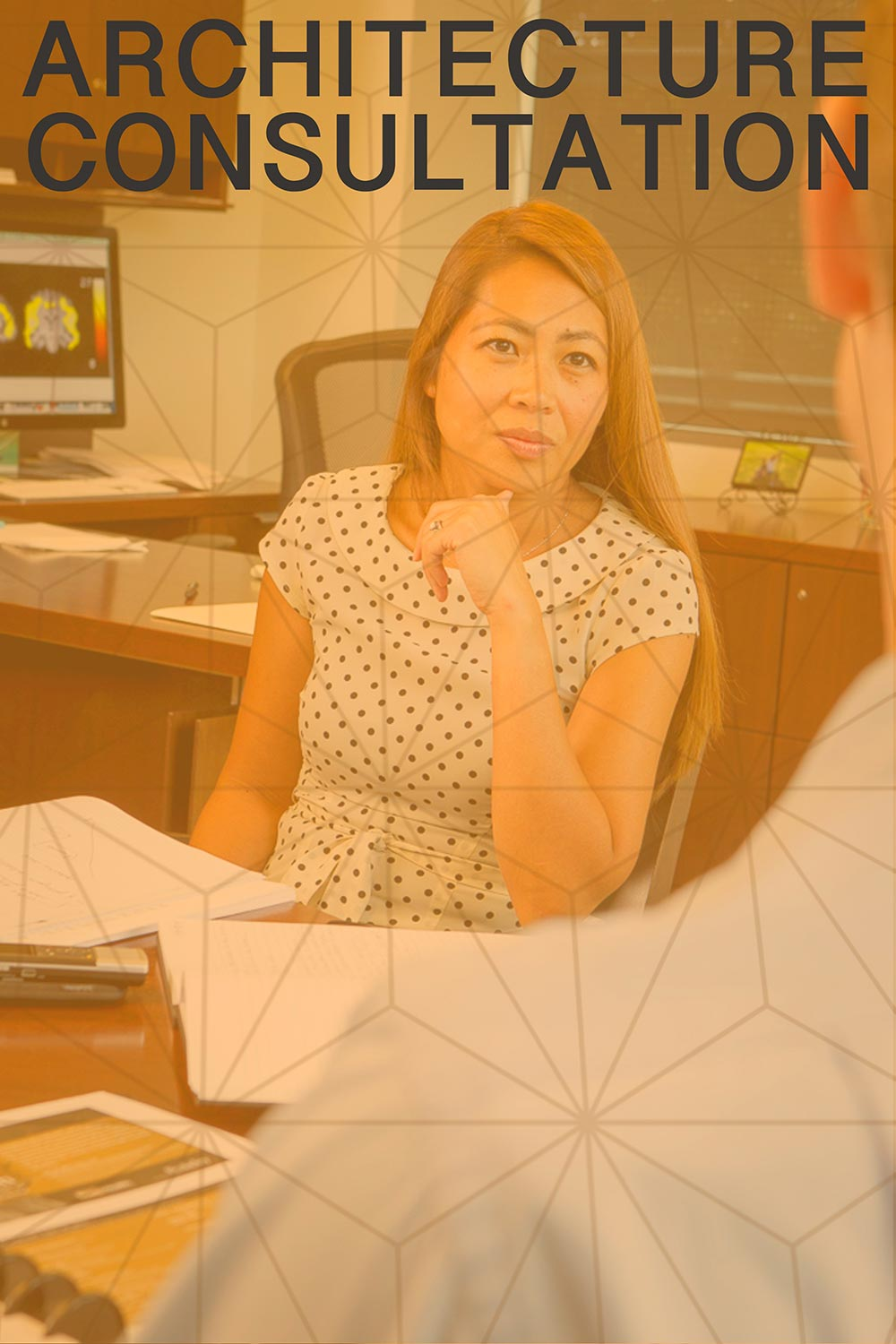 Architecture Consultation: Woman paying attention to clients